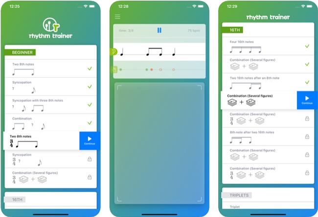iOSのリズムトレーニングアプリ・The Rhythm Trainer